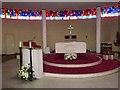 C3621 : Altar in St Aengus' Church, Burt by Oliver Dixon