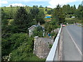 SO0843 : Former toll house and bridge pier, Erwood by Jaggery