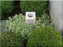 TQ2472 : Urn of Fred Perry's Ashes at Wimbledon by David Hillas