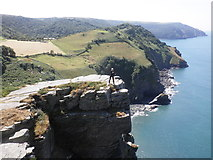 SS7049 : The cliffs above Wringcliff Bay by Roger Cornfoot