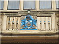 NZ4920 : Coat of arms on the solicitors' offices, Borough Road / Dunning Road, TS1 by Mike Quinn