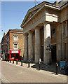 TQ6474 : Portico, Gravesend Town Hall by Julian Osley