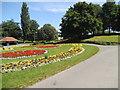 SO9496 : Bilston Park Flowers by Gordon Griffiths