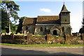 SP8025 : Holy Cross church by Philip Jeffrey