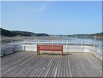 SH5873 : Seat on Bangor Pier by John M