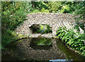 NT6424 : A bridge and pond at Monteviot House Gardens by Walter Baxter