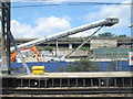 TQ2581 : Conveyor for Crossrail tunnel spoil, Royal Oak by David Hawgood