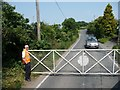 TR2648 : Level crossing, Eythorne Road by Christine Johnstone