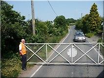 TR2648 : Level crossing, Eythorne Road by Christine Johnstone