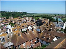 TQ9220 : View north-north-east from Rye Church tower by Christine Johnstone