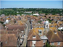 TQ9220 : View north-north-west from Rye Church tower by Christine Johnstone