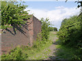 SK4645 : Railway bridge abutment by Alan Murray-Rust