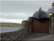 HU4841 : Lerwick: novel use for an old boat by Chris Downer