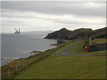 HU4840 : Lerwick: path to The Knab by Chris Downer