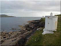HU4840 : Lerwick: navigation beacon on Twageos Point by Chris Downer