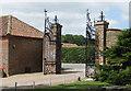 SE9364 : Wrought iron entrance gates, Sledmere House by Pauline E