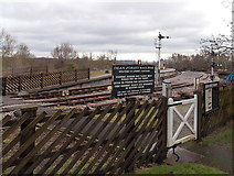 SO6302 : Entrance gate to Lydney Junction railway station, Lydney by Jaggery