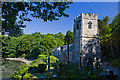 SW8435 : St Just's church, St Just in Roseland by Mike Searle