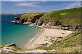 SW5926 : Porthcew beach, Rinsey by Mike Searle