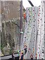 NT1270 : Climbing wall at Ratho by M J Richardson