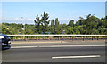 TQ0272 : Former sand and gravel pits near Staines seen from the M25 j13 by Robin Stott
