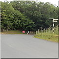 SO0943 : Old-style signpost near Erwood by Jaggery