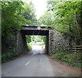 SO0943 : South side of a former railway bridge near Erwood by Jaggery