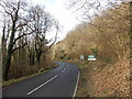 SO6204 : Road from Lydney enters the Forest of Dean by Jaggery