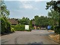TQ0389 : Entrance, Denham Grove by Robin Webster