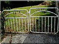 ST3783 : Whitson and Goldcliff Silver Jubilee gates by Jaggery