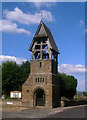 SP4545 : Lychgate with bell-tower, All Saints Church by Jim Osley