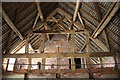 SJ8308 : Queenpost roof truss by Richard Croft