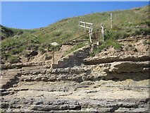TA1281 : Filey - Steps up to Filey Brigg from Old Quay Rocks by Alan Heardman
