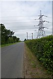 SE7643 : Pylons near Scamland by DS Pugh