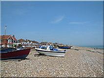 TQ1602 : Fishing Boats, East Worthing Beach by Paul Gillett