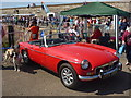 NT6879 : Dunbar Lifeboat Day 2013 : Little Red Roadster by Richard West