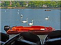 ST1879 : Rescue boat, Roath Park Lake by Robin Drayton