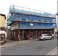 SY1287 : NatWest bank under wraps, Sidmouth by Jaggery