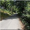 SO1141 : Western boundary of Llanstephan by Jaggery