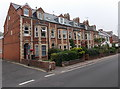 SY1288 : Vicarage Road guesthouses, Sidmouth by Jaggery