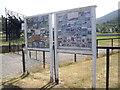 NO1491 : Information boards at Braemar Memorial Park by Stanley Howe