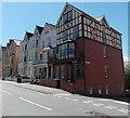 SO0561 : High Street south of Oxford Street, Llandrindod Wells by Jaggery