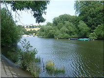 TQ1773 : River Thames looking towards Richmond Hill by Marathon