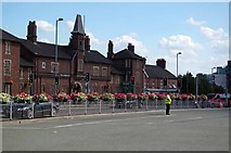 SJ8545 : The Bus Station & Barracks Newcastle Under Lyme by Glyn Baker