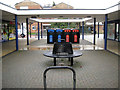 SP2966 : Street furniture, Spinney Hill shops by Robin Stott