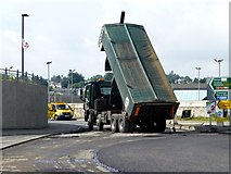 H4572 : Tipping tarmac, Omagh by Kenneth  Allen