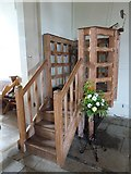 SU1012 : St James, Alderholt: pulpit by Basher Eyre