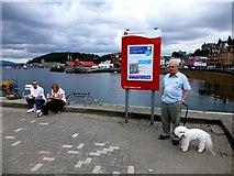 NM8529 : Ferry trips notice, Oban by Kenneth  Allen