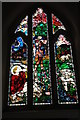 SO8240 : Stained glass window, Upper Hook church by Philip Halling