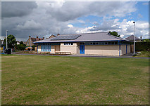 NT5247 : A sports changing facility at Lauder by Walter Baxter